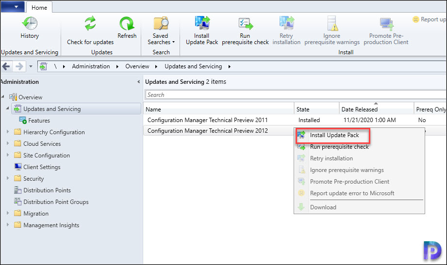 Install Configuration Manager Technical Preview 2012