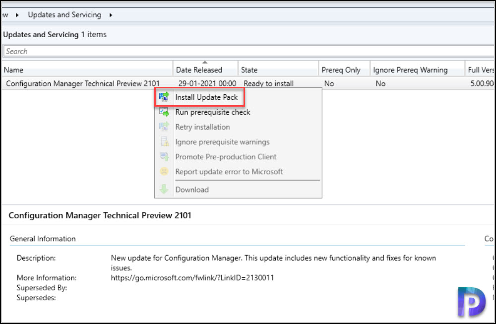 Install ConfigMgr Technical Preview 2101