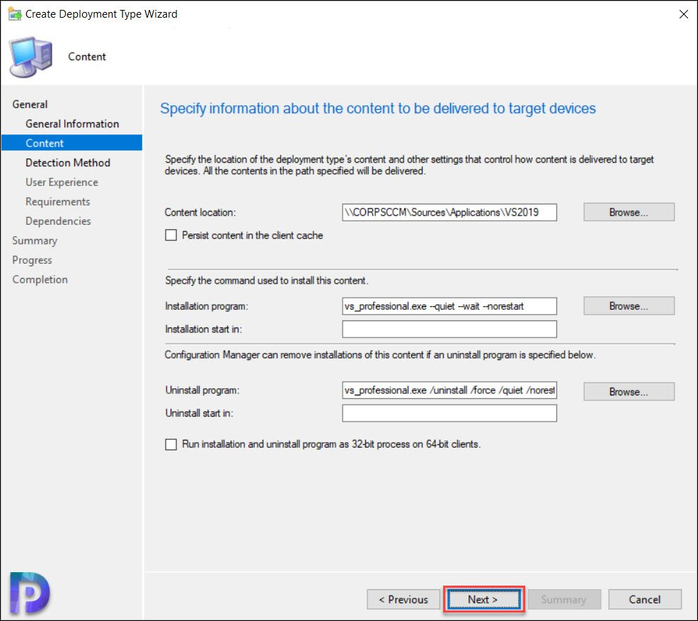 Visual Studio 2019 Install Command