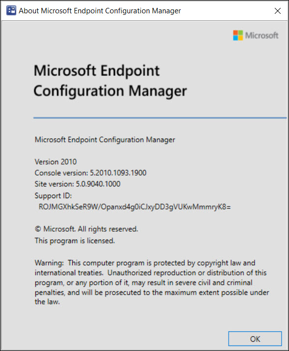 About Microsoft Endpoint Configuration Manager 2010