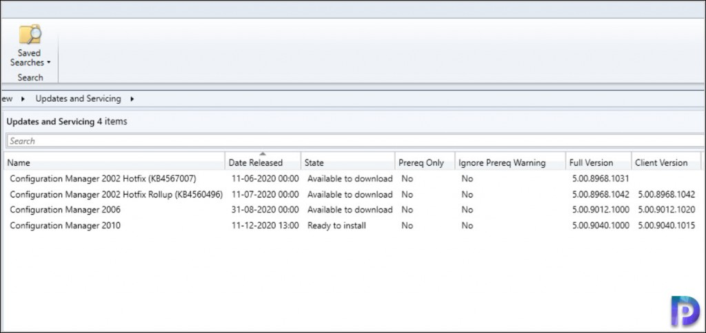 ConfigMgr 2010 Update Available