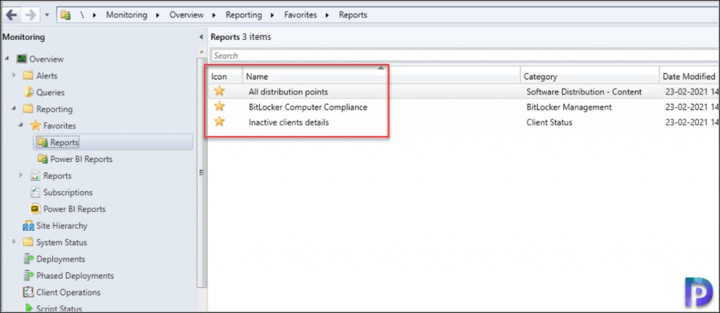 Add Reports as favorites in SCCM Console
