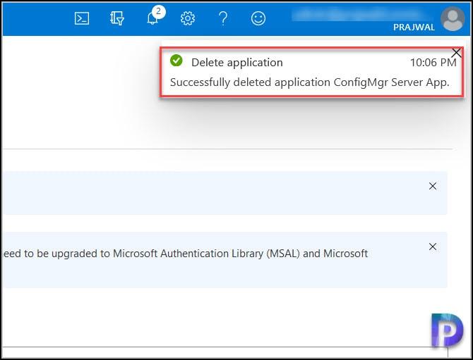 Delete ConfigMgr Server App Registrations