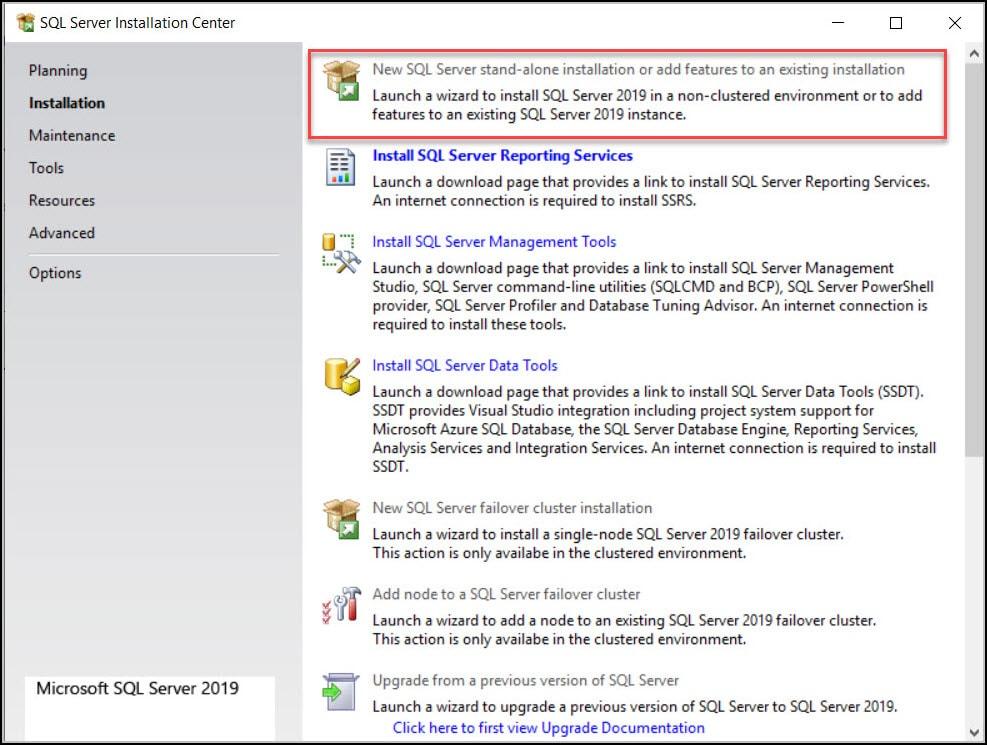 New SQL Server 2019 Installation