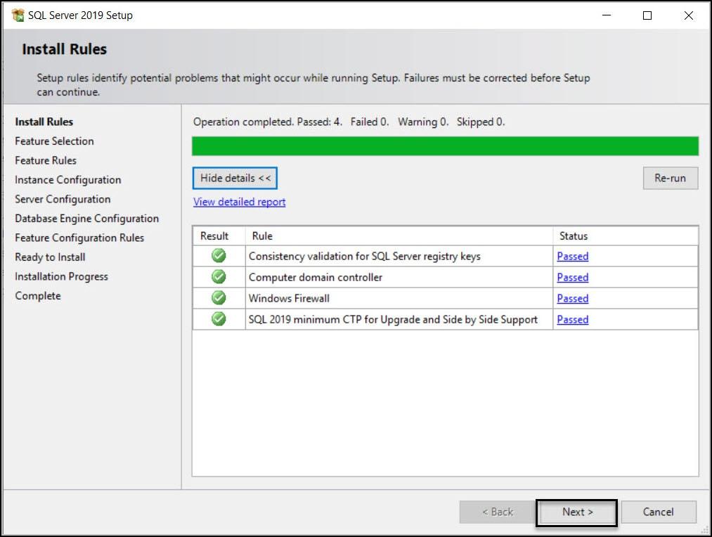 SQL Server Install Rules