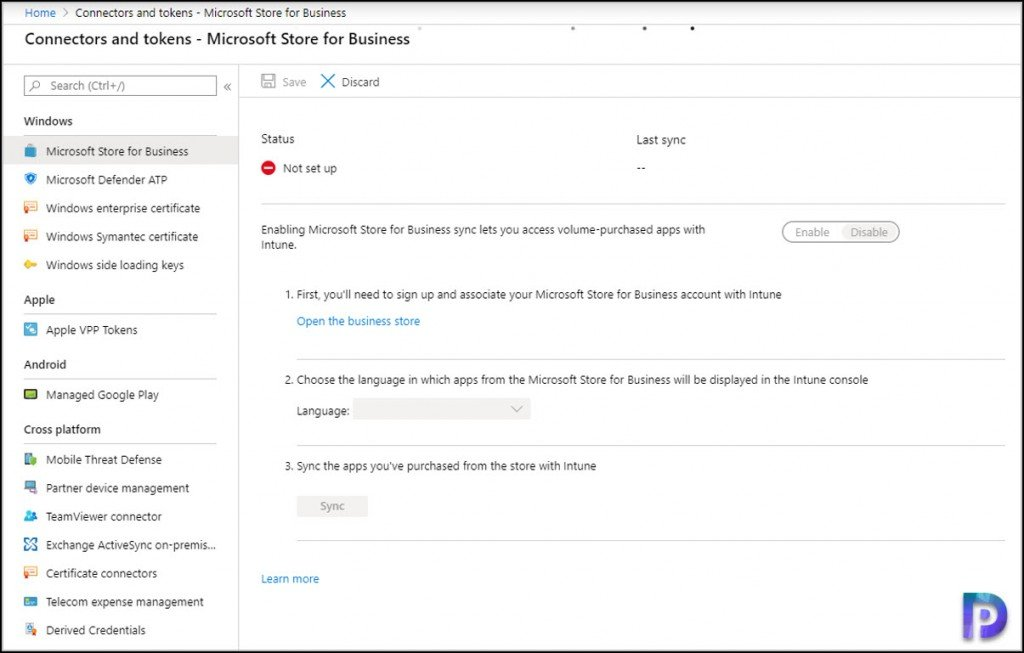 Integrate Microsoft Store for Business with Intune