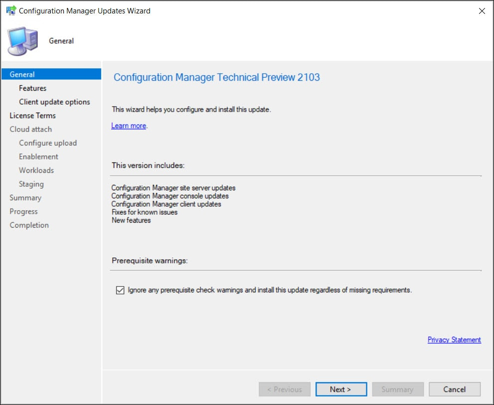 ConfigMgr Technical Preview 2103