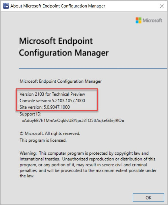 About Microsoft Endpoint Configuration Manager 2103