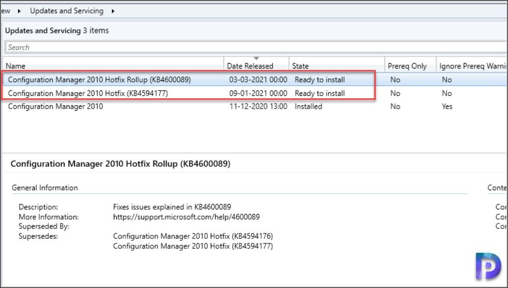 Hotfix Rollup KB4600089