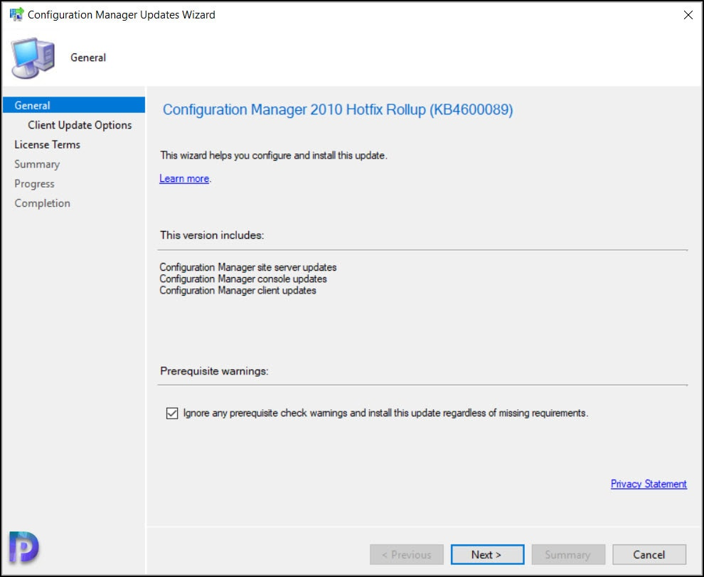 Install Configuration Manager 2010 Hotfix KB4600089