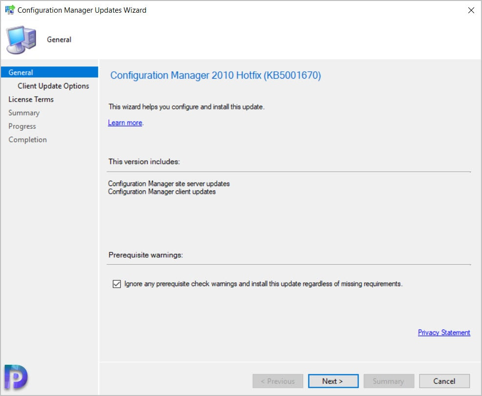 Install Configuration Manager 2010 Hotfix KB5001670