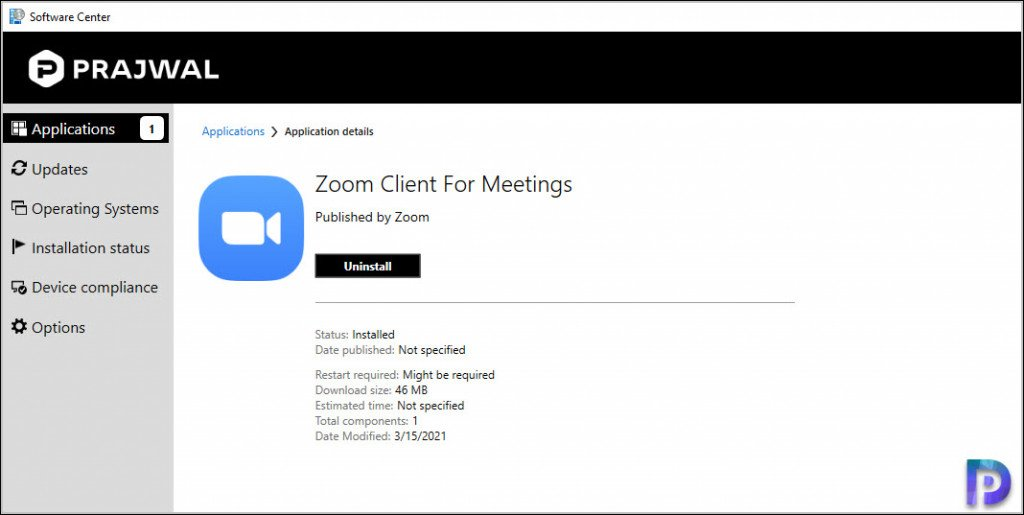 Test Zoom Client Application Install on Windows 10 Devices