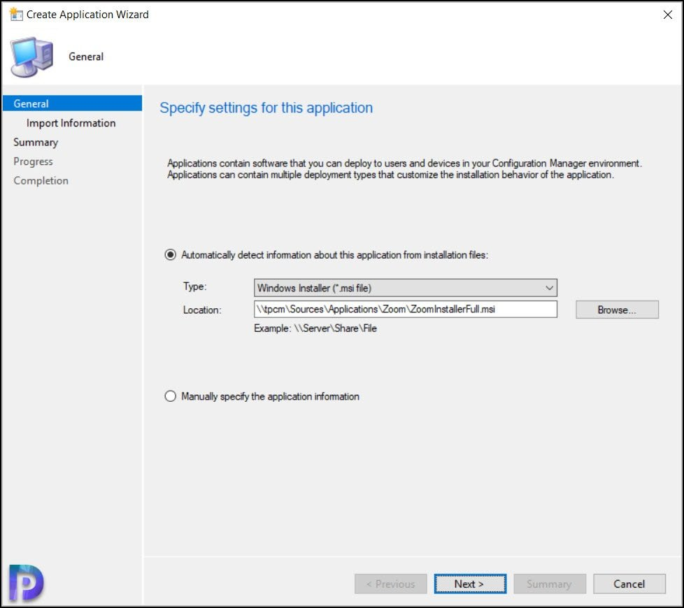 Specify Zoom Installer File Location