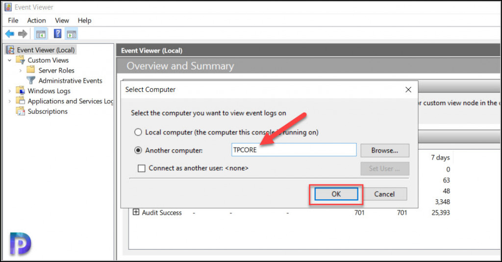 Connect to Event Viewer on Windows Server Core