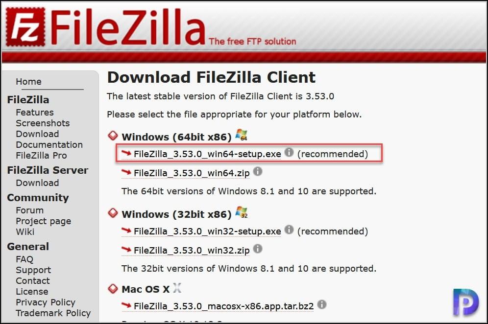 Download FileZilla Client