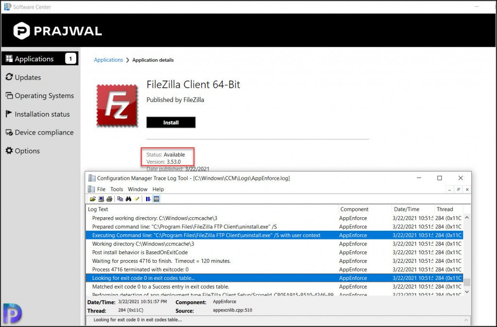 Deploy FileZilla Client using SCCM