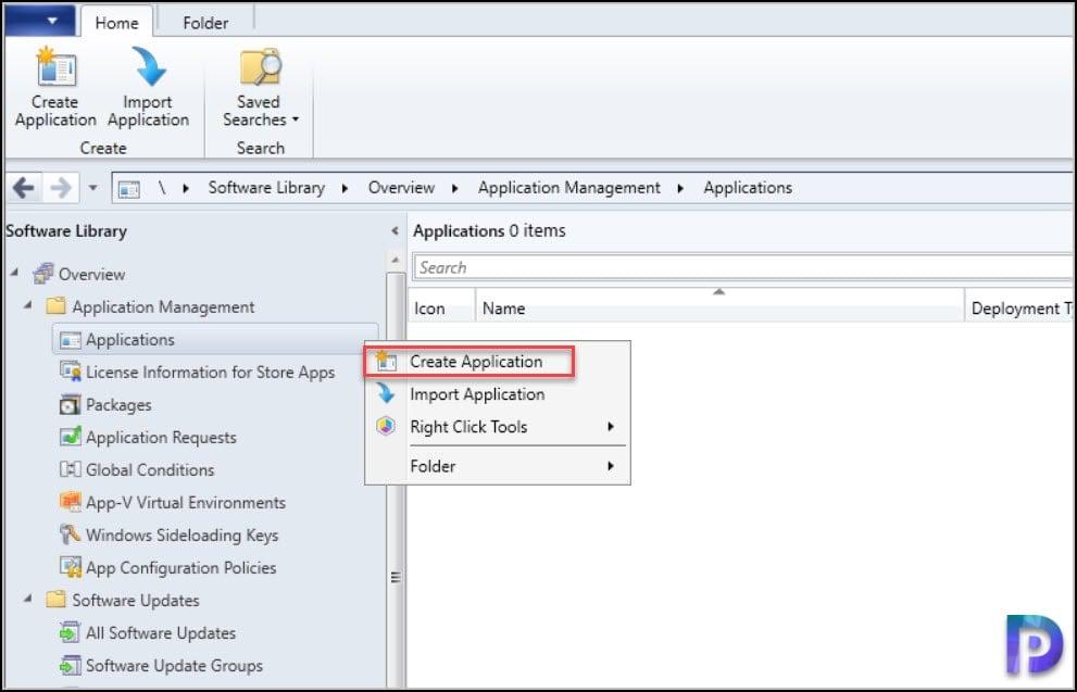 Create FileZilla Application in SCCM