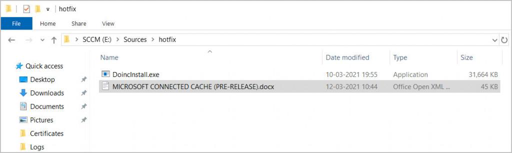 Install ConfigMgr Hotfix KB5001600
