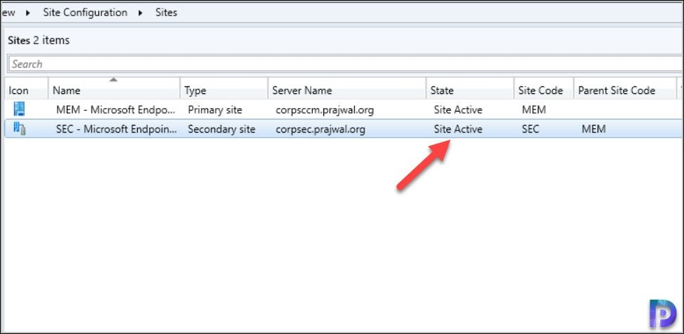 Recover SCCM Secondary Site Successful