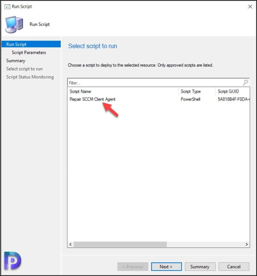 Run Script SCCM Client Repair