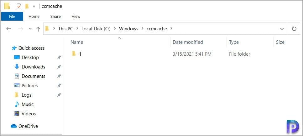 CCMCache Folder