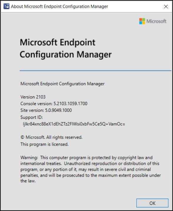 Verify Configuration Manager 2103 Upgrade