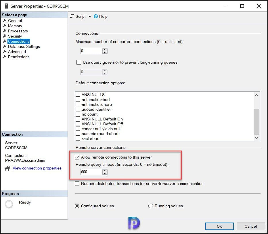 Check if instance name is correct and if SQL Server is configured to allow remote connections