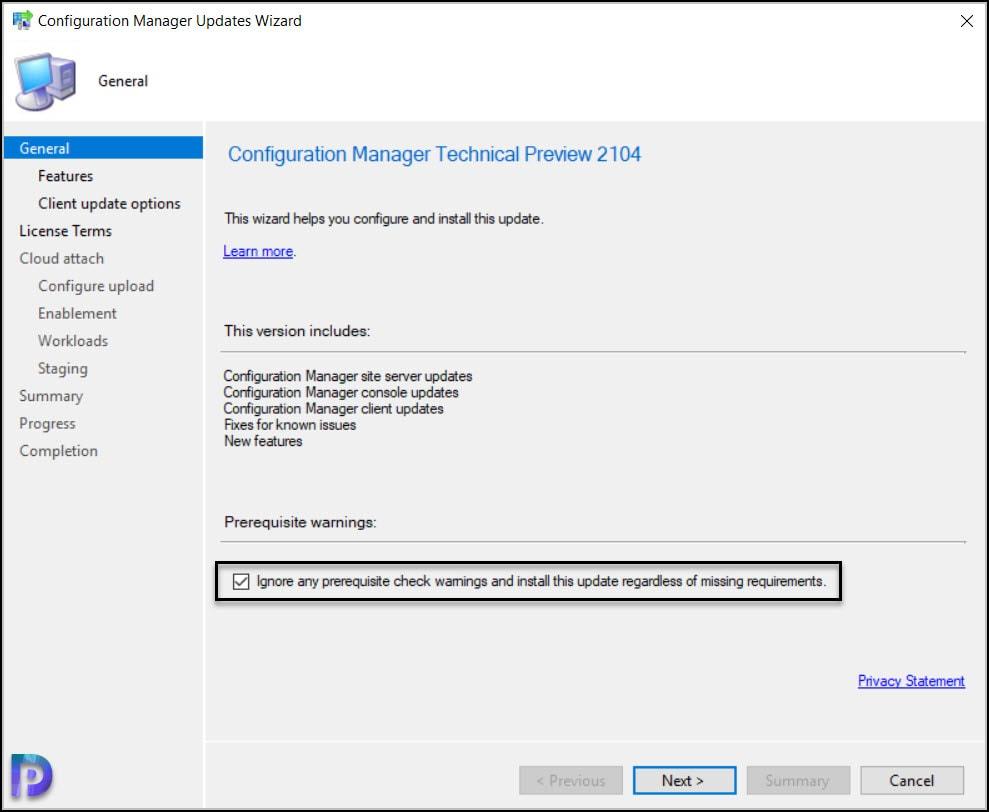 Install Configuration Manager Technical Preview 2104