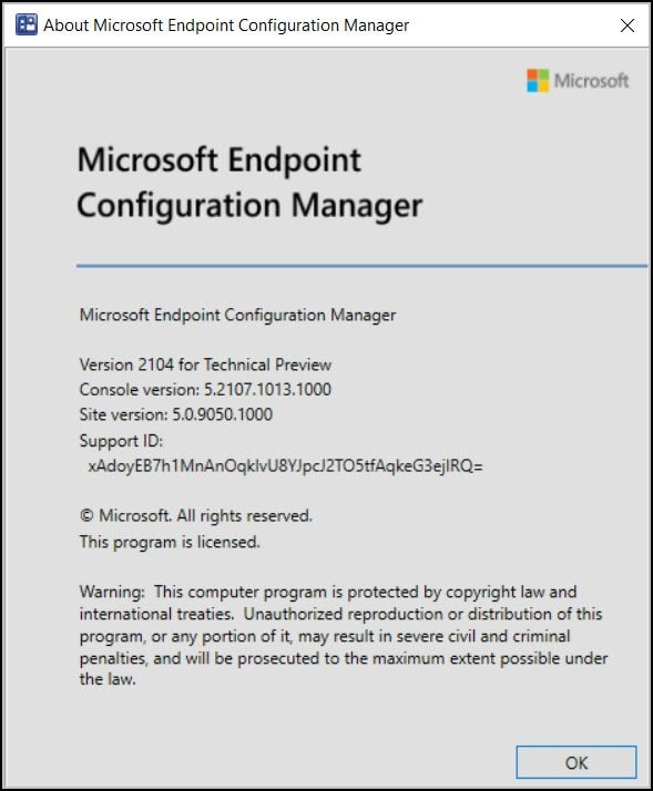 Configuration Manager Technical Preview 2104