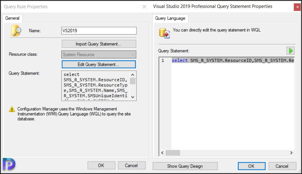 Create SCCM Device Collection for Visual Studio
