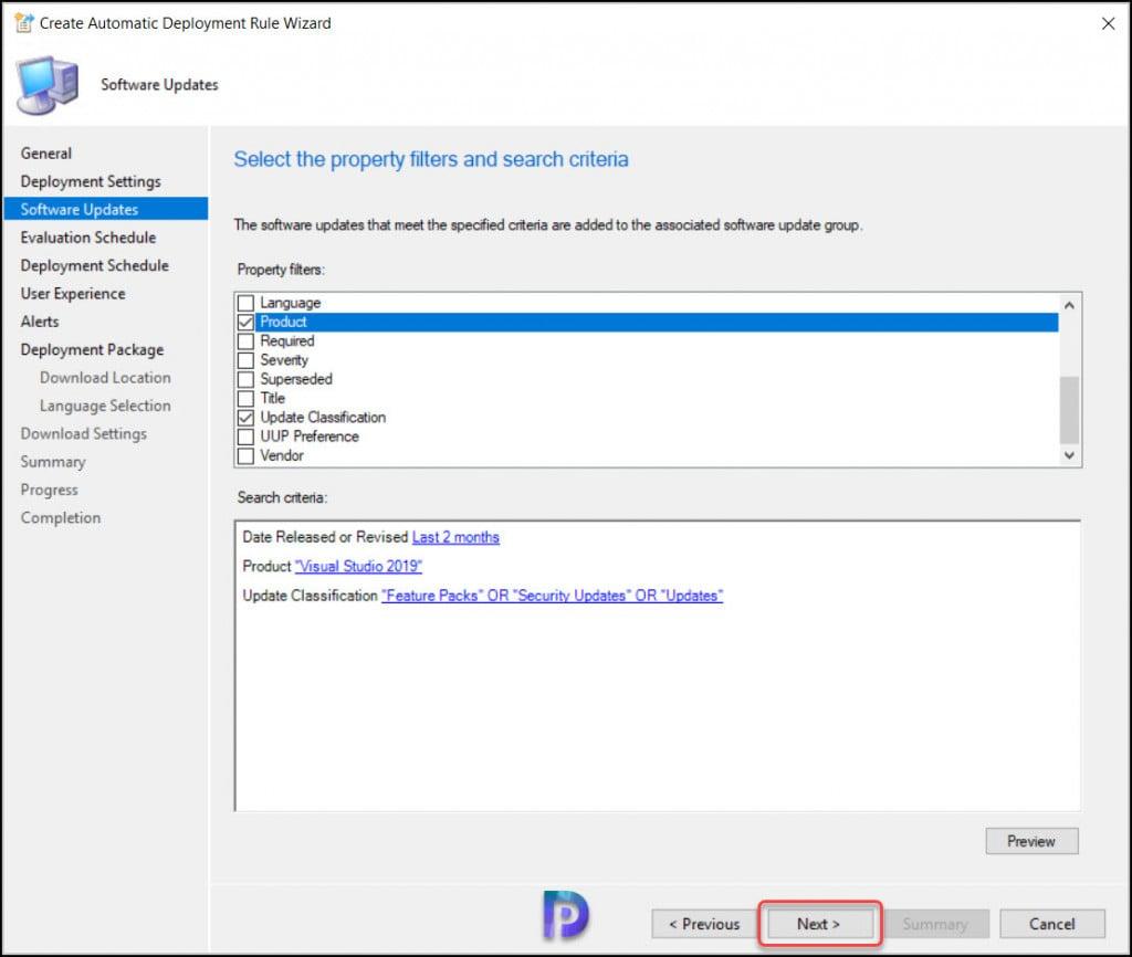 Visual Studio Updates Criteria