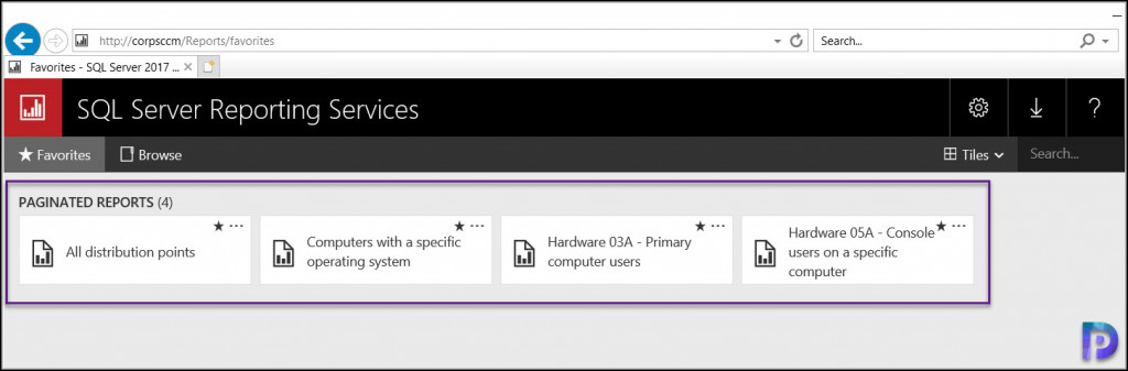 Access your Favorite ConfigMgr Reports via Browser