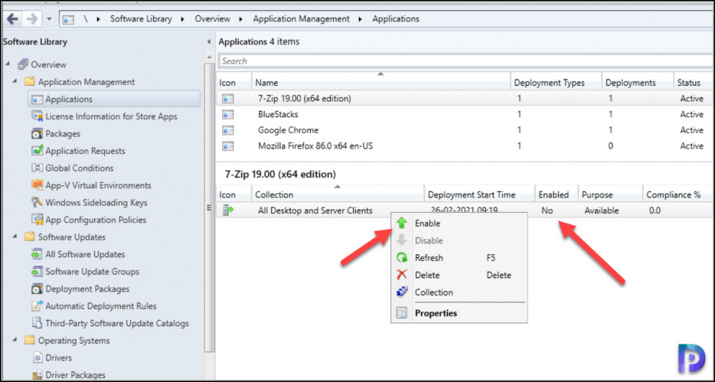 Disable Application Deployments in SCCM