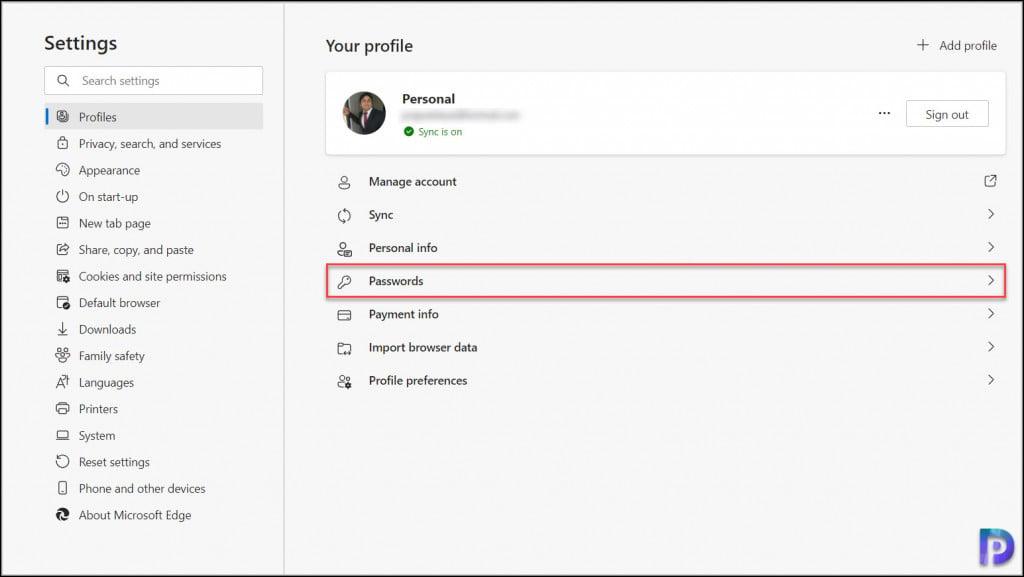 How to Export Passwords on Microsoft Edge