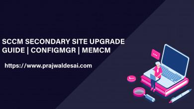 SCCM Secondary Site Server Upgrade Process