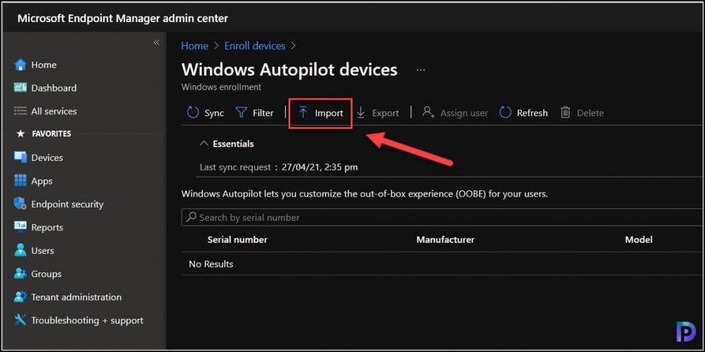 Autopilot Registration using Intune