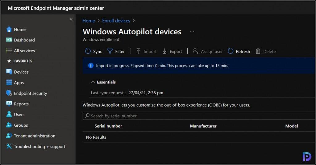 Register your Device for Autopilot