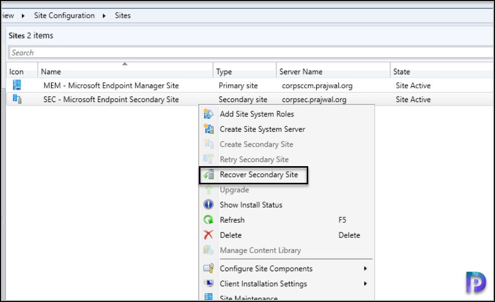 Install ConfigMgr 2103 Hotfix KB9833643 on Secondary Site