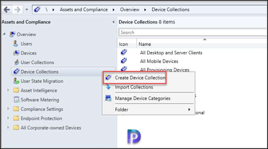 Create SCCM Windows 10 21H1 Device Collection