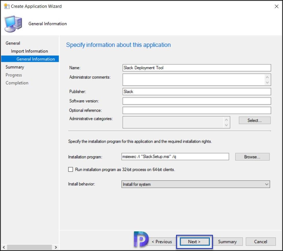 Create Slack Application in SCCM