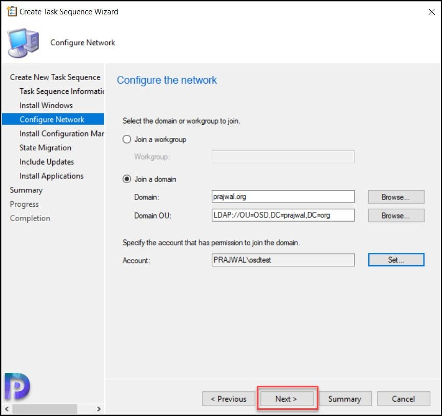 Create ConfigMgr Task Sequence to Deploy Windows 10 21H1
