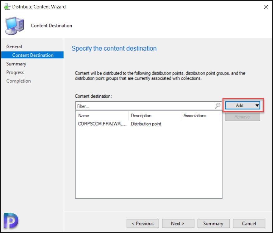 Distribute the Windows 10 21H1 Content to Distribution Points