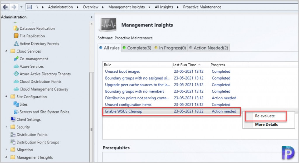 Enable WSUS Cleanup in ConfigMgr
