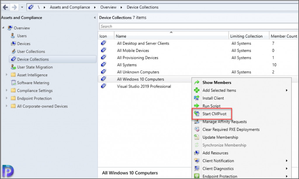 Find Installed Service with CMPIVOT Query
