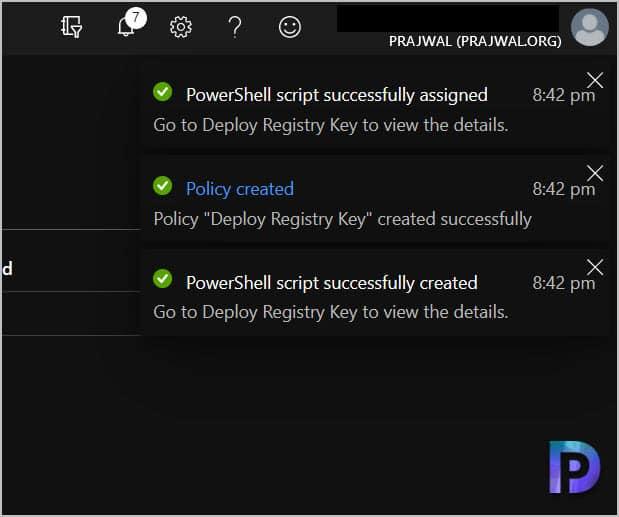 Deploy PowerShell Script Using Intune