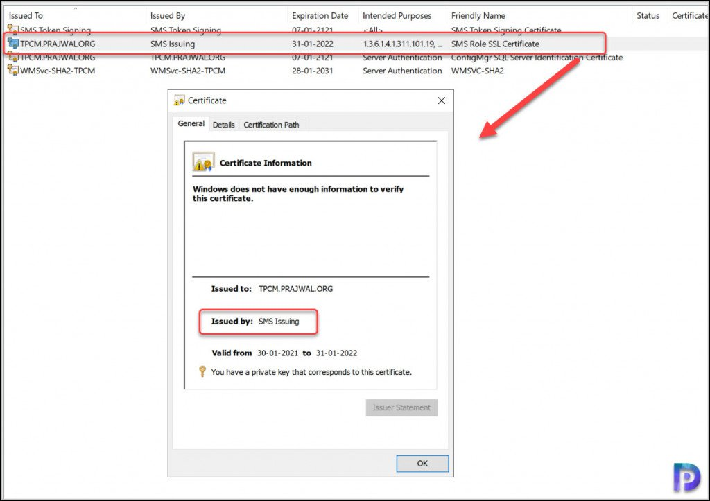 SMS Role SSL Certificate - Enhanced HTTP Configuration