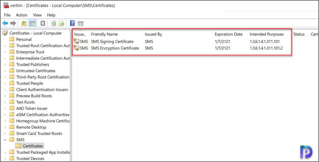 SCCM Enhanced HTTP Certificates on Client Computers
