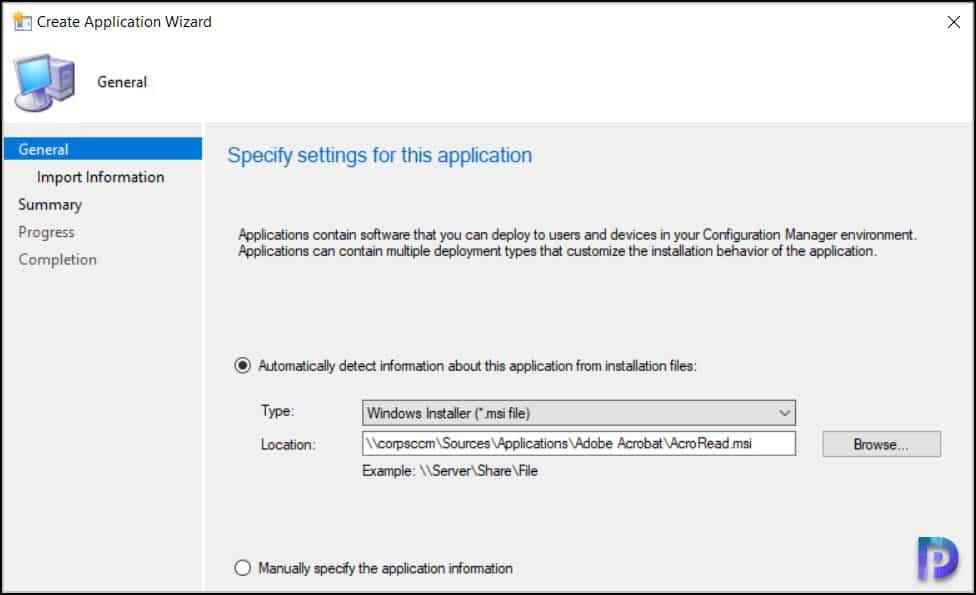 Create Adobe Acrobat Reader DC Application in SCCM