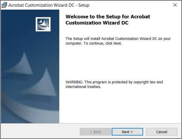 Install Acrobat Customization Wizard DC