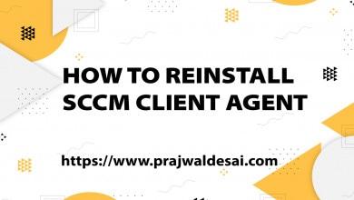 Reinstall SCCM Client Agent